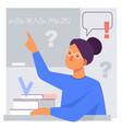 flat stylized a teacher vector image