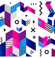 funky seamless abstract geomertic pattern - modern vector image vector image