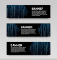 futuristic and digital horizontal banners vector image
