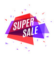 geometrical colorful banner super sale speech vector image vector image