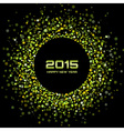Green Bright New Year 2015 Background vector image vector image