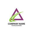 growth business company logo vector image vector image