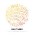 halloween circle concept vector image vector image