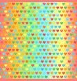 heart pattern seamless glowing vector image vector image