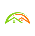home realty roof construction logo vector image vector image