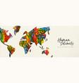human solidarity day diverse world map hand banner vector image vector image