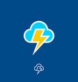 icon cloud flash vector image