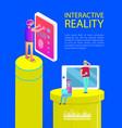 interactive reality cartoon activity banner vector image vector image