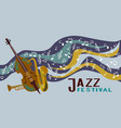 jazz band musical instruments on decorative vector image