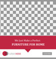layout banner social media post furniture sale vector image vector image