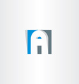 letter a in square logo a vector image vector image