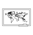 line global map with locations symbols vector image