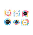 logo design collection abstract badges various vector image vector image