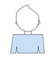 man back cartoon vector image vector image