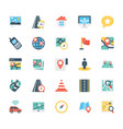 map and navigation colored icons 3 vector image vector image