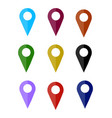 map pin icon flat design vector image