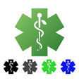 medical life star flat gradient icon vector image vector image