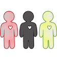 men and heart vector image