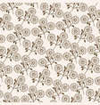 monochrome background with pattern of daisy vector image vector image