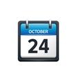 October 24 Calendar icon flat vector image vector image