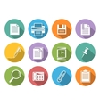 Office iconsFlat icons with shadow vector image vector image