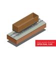 Open rail car for transportation of bulk cargoes vector image