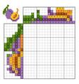 paint number puzzle nonogram plum vector image vector image