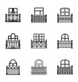 pane icons set simple style vector image vector image