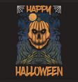 pumpkin happy halloween vector image