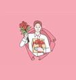 saint valentines day celebration concept vector image