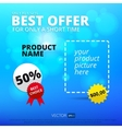 sale background Best offer vector image