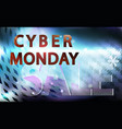sale technology banner for cyber monday event vector image