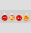 sale wobblers mockup special offer discount vector image vector image