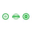 set circle eco friendly 100 percent green vector image vector image