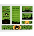 Set Of Happy Halloween Greeting Cards Flyer vector image
