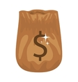 silhouette of bag opened with money vector image