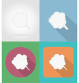 speech bubbles flat icons 07 vector image vector image