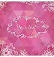 Textured pink triangles greeting card vector image vector image