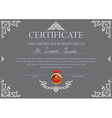 Thai art certificate design template vector image vector image