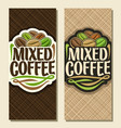 vertical banners for coffee vector image vector image