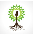Victory hand make tree vector image