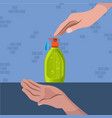 wash your hands - clean vector image vector image