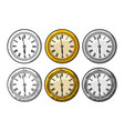 watch vintage engraved on white background vector image vector image