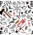 weapon seamless pattern vector image vector image