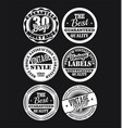 white and black vintage labels collection 2 vector image vector image