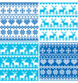 winter pattern cross stitch collection sea vector image vector image