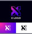 x letter monogram building construction logo vector image vector image