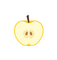 yellow apple in cut icon flat design vector image vector image