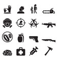 zombie icons set vector image vector image