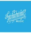 Music in trendy linear style vector image